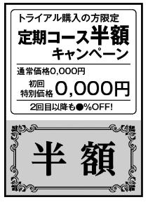 クーポン券風デザイン