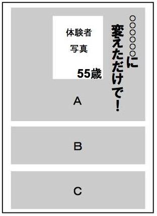"""「読み手の""""想像のスイッチ""""を入れる仕掛け」事例"""