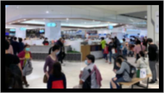 台湾の百貨店の様子(2020年11月時点)