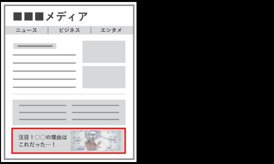 インフィード型広告のイメージ